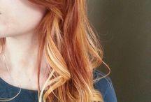 Red/orange/copper hair