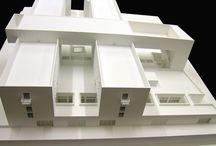 Adisu, alloggi universitari, Area Papareschi, Roma. Progetto, scala 1:200