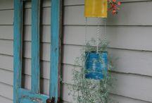 Potted planter ideas/Outside decor