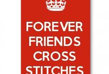 Forever friends cross stitches