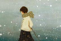 Karlar yağar gecelerime..! üşürüm.. / Kar..! Ne güzel bir örtüsün sen, Tüm kirleri temizleyen..!