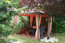 patios, gazebos y plantas