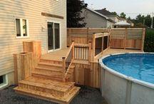 Deck de piscines hors sol
