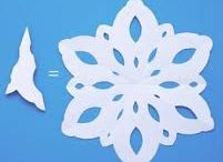 Paper Art / Snowflakes and food doilies