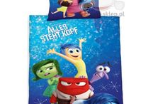 Inside Out / Room and bedroom ideas with Disney Inside out theme, beddings, wall, accesories