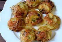 φαγητό πατάτες στο φούρνο