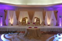 Paisley Backdrop / Ivory & Gold Backdrop with Gold Paisley Design