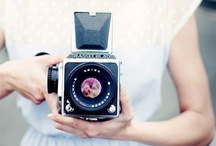 camera and lady