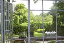 Orangeri idéer / Orangeri , gårdshus , trädgårdens hus