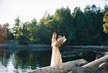 Lake Styled Shoot Inspiration / Fine Art Wedding Photography Inspiration. Lake Wedding using Fuji 400h Film.