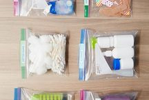 Plastic Baggy Organizing / How to organize your home and life using Ziploc baggies.