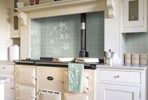 Agas in kitchen