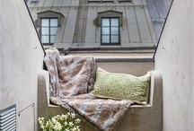 """Get cosy in a nook / Just discovered the term """"nook"""". Sooo much better than """"good use of space"""""""