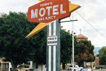 vintage neon motel signs