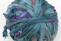Silk robbon/ farbowany jedwab sari