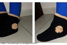 Обувь вязаная и шитая!