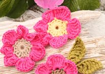 Bloemen haken. Flowers and plants