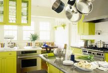 lime kitchen cabinets