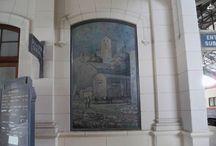 Restauración Teodo Benitez / En el mes de abril se terminó con las tareas de restauración de las obras de Teodo Benitez que se encuentran en el hall central de la Estación Sud de Bahía Blanca.