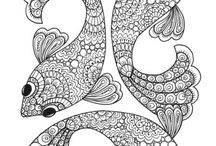 peces pájaros y mariposas