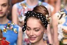 Dolce & Gabbana Summer 2016 ❤#ITALIAISLOVE Trends / Very glamour trends: Accessories - Lace - Transparencies - Stripes Marine - Floral Patterned - Bright Colors - Stones - Chrystals - Footwear -Make Up - Perfume.