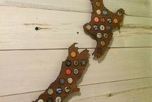 Beer Cap Maps / The coolest way to show off your favorite beer bottle caps.