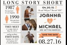 Save the date/Wedding invitations