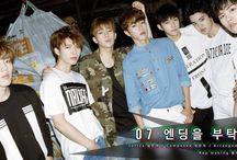 • INFINITE • / Kim Sunggyu • Jang Dongwoo • Nam Woohyun • Lee Howon • Lee Sungyeol • Kim Myungsoo • Lee Sungjong