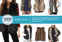 Trend We Love: Faux Fur Vests / Breathe new life into your winter wardrobe with the addition of a faux fur vest.