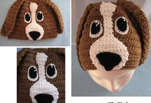 Dog Hat Crochet Patterns / Different breed of dogs turned into hats you can wear.