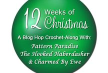12 Weeks of Christmas Blog Hop Crochet-Along! / 12 Weeks of Christmas Blog Hop CAL! Come join us for the 2015, 12 Weeks of Christmas Blog Hop CAL. A few of my blogger friends and I are hosting this event and will be sharing 12 new FREE patterns (one per week) starting 9/4/15. For more details join the FB group Crochet Playground!  / by The Hooked Haberdasher