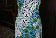 вязаные платья и сарафаны