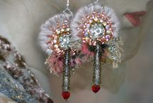 Beaded Earrings / Earrings that are beaded / by Donna Hess