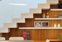 Escada / Ideias de escadas retas para sala