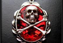 Gothic Skull Skeleton Jewelry / Gothic jewelry featuring skulls, crossbones, skeletons