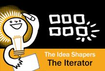 The Idea Shapers: The Iterator / In her 2016 book The Idea Shapers, Brandy Agerbeck makes visual thinking attainable and enjoyable through a set of 24 Idea Shapers. The Iterator is the second visual thinking concept in the fifth and final step, GRASP.