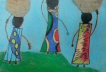 Afrikanische Kunst und deko