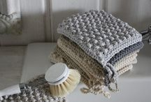 Shabby chic knit / Shabby chic si white, grey, used, cord, linen, raw, iron.