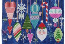 textile - Xmas, winter / Textil - Weihnachten, Winter / by Faden.Design. Christine Ober