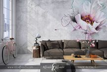 Floral designs / Exclusive design ideas reproduced on real stucco -  handcrafted in Italy.