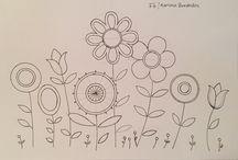 patrones bordado flores y mas