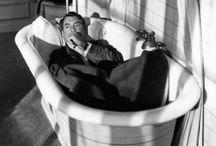 men in bathtubs