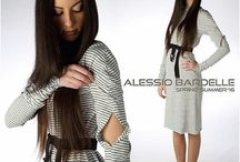 ALESSIO BARDELLE spring*summer*16 / This is a great modern dress. It has long cool tight sleeves and is belted at the waist. I love stripes so of course I love this. It also has a hint of a cut out in the sleeves top side which I love  http://www.alessiobardelle.eu/  #spring #march21