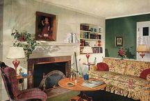 Взгяд на интерьеры 40-50-х годов / После войны в 40-е годы все  в своих интерьерах искали теплоту и уют.