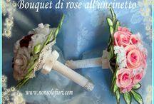 Bouquet di fiori all'uncinetto (matrimoni o anniversari) - Crochet flowers / Bouquet da sposa realizzati all'unciinetto