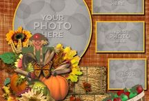 First thanksgiving scrapbook page