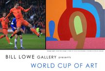 World Cup of Art 2014 / Bill Lowe Gallery presents the World Cup of Art: A global highlight of represented artists paired with 10 of the World Cup's premier teams. These artists create works that capture the diversity and unique aesthetic of all that the countries of the World Cup have to offer. / by Bill Lowe Gallery