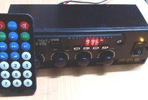 Rakitan USB MP3 FM Tape Mobil Amplifier Stereo