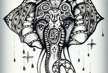 Tatouages Éléphants