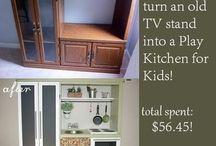 DIY kids kitchen / by Jennifer Anderson